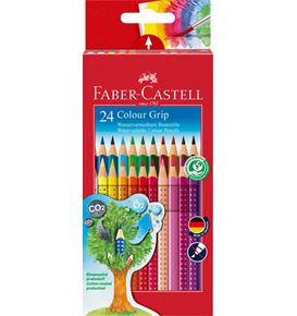 Faber-Castell - Matite Colorate Colour Grip Astuccio cartone 24