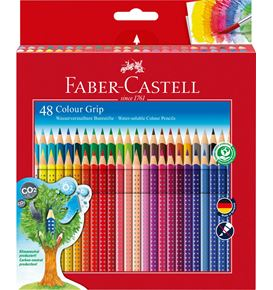 Faber-Castell - Astuccio di cartone con 48 matite colorate Colour Grip