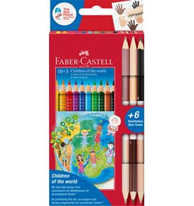 "Faber-Castell - Matite colorate Colour Grip ""Children of the world""  10+3"