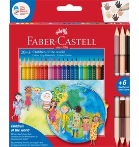 Faber-Castell - Matite colorate Colour Grip Children of the world  20+3