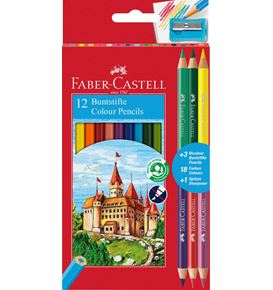 Faber-Castell - Matite colorate Eco 12+3 matite Bicolor