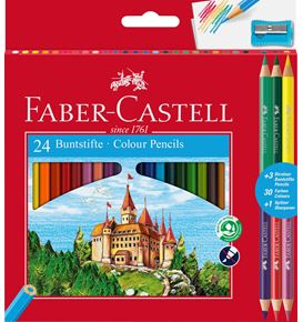 Faber-Castell - Matite colorate Eco 24+3 matite Bicolor
