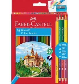 Faber-Castell - Matite colorate Eco 36+3 matite Bicolor + 1 grafite