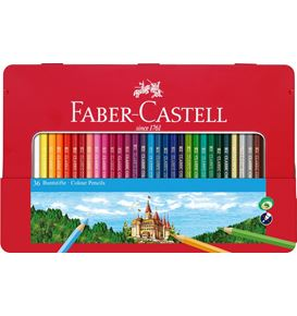 Faber-Castell - Conf. metallo con 36 matite colorate permanenti con finestra