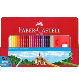 Faber-Castell - Conf. metallo con 48 matite colorate permanenti con finestra