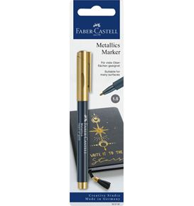 Faber-Castell - Blister con 1 marker metallics heart of gold