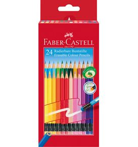 Faber-Castell - Matite colorate cancellabili Astuccio Cartone da 24