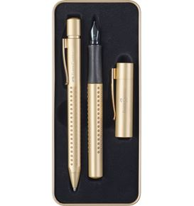 Faber-Castell - Set regalo stilo/sfera Grip Edition Gold