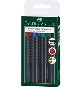 Faber-Castell - Marker Grip 1503 permanente scalpello Set 4