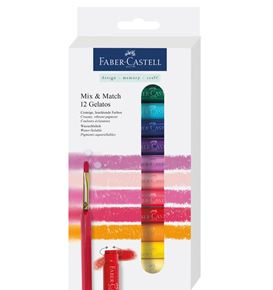 Faber-Castell - Pastelli acquerellabili Gelatos set 12 pz. + 1 pennello