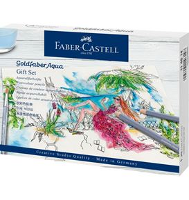 Faber-Castell - Matite colorate Goldfaber Aqua, gift set, 18 pz