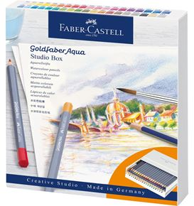 Faber-Castell - Studio box matite colorate acquerellabili Goldfaber Aqua