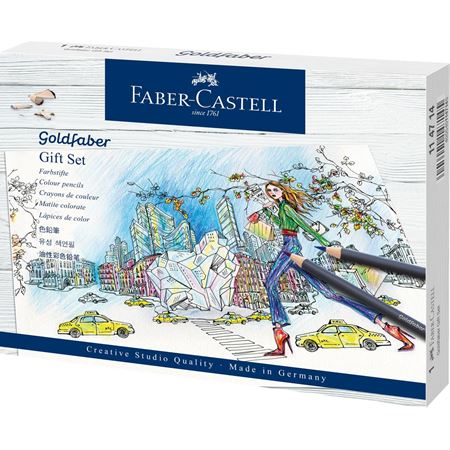 Faber-Castell - Matite colorate Goldfaber, gift set, 12 pz