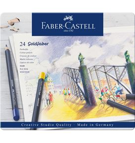 Faber-Castell - Matite colorate Goldfaber conf. metallo da 24