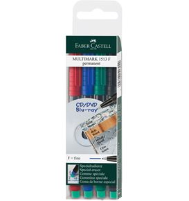 Faber-Castell - Marker Multimark permanenti F Bustina 4