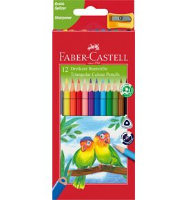 Faber-Castell - Matite colorate triangolari Eco ast. cartone da 12