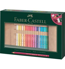 Faber-Castell - Rotolo con 34 matite colorate Polychromos