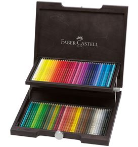 Faber-Castell - Matite Colorate Polychromos Valigetta legno 72