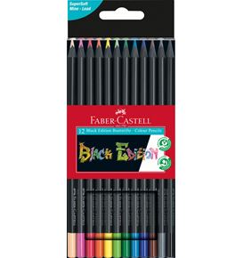 Faber-Castell - Astuccio con 12 matite colorate Black Edition